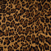 Brown Leopard Print Apparel Fabric